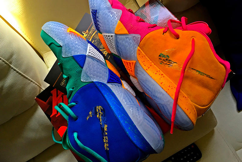 Nike Kyrie 4 NBA 2K release giveaway sneakers shoes footwear irving