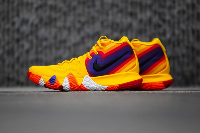 74ab6c317f9 Nike Kyrie 4 Uncle Drew Poster Colorway yellow orange purple red release  date sneaker