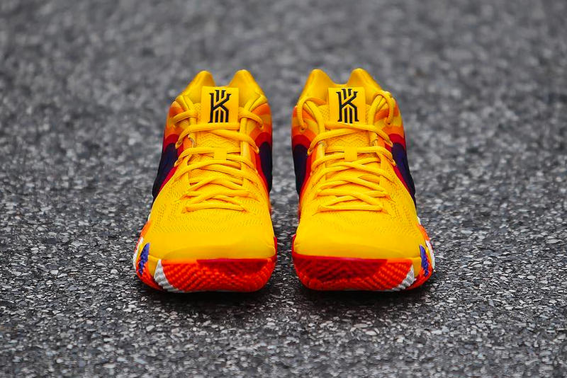 f3f786d28567 Nike Kyrie 4 Uncle Drew Poster Colorway yellow orange purple red release  date sneaker