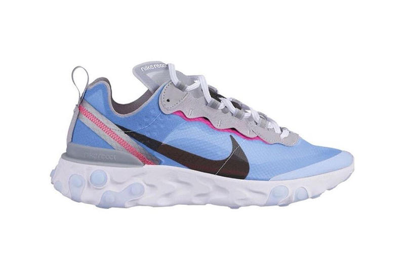 Nike React Element 87 2019 Colorways First Looks Sail White Orange Neon Green Yellow Grey Black Pink Red Blue