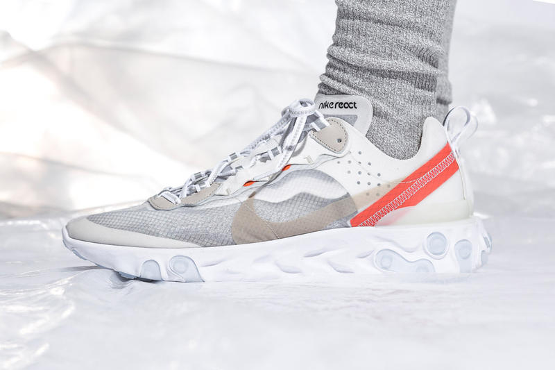 Nike React Element 87 Sail Light Bone Anthracite Black Release Info General North America Official Store List