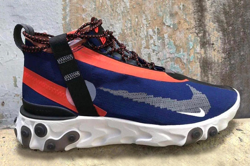 Nike React Runner Mid SP SOE First Look Blue Orange Element 87 77 Epic Info Model