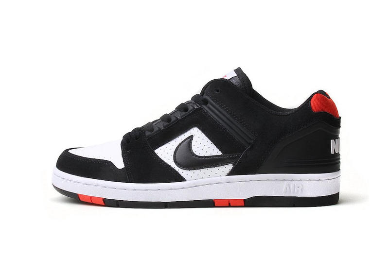 142843b76 Nike SB Air Force 2 Unveils Bred black white habanero red release info  skateboarding sneakers