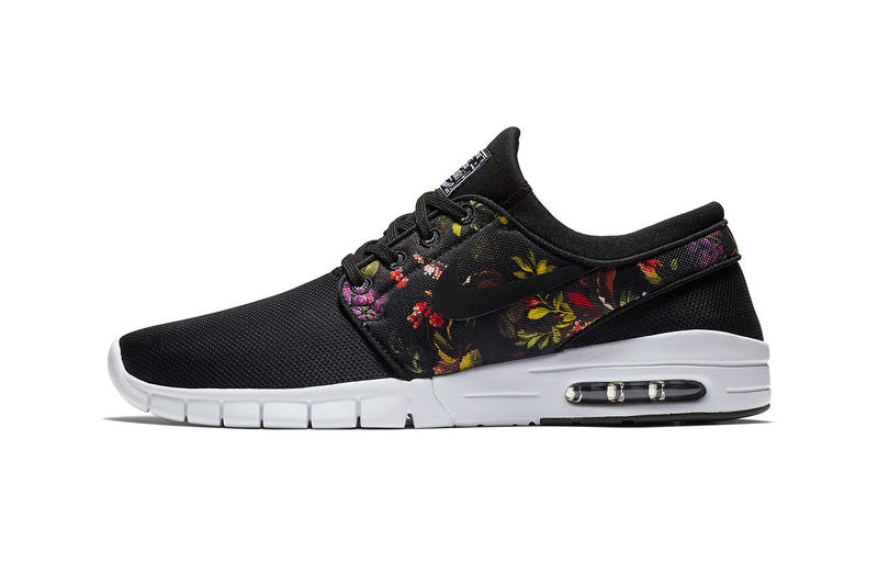 nike sb stefan janoski max sneaker footwear shoe drop release day info closer look official news Multi-Color Black Style 631303-029 july 2018 cop floral flower white