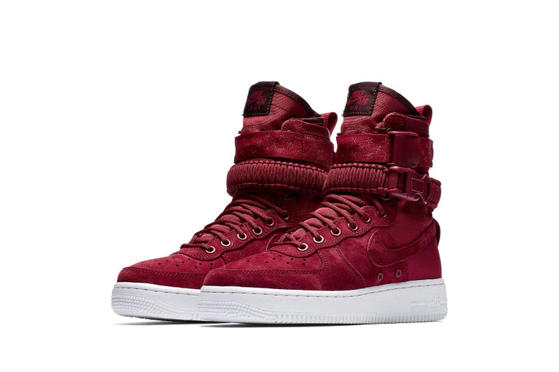 Nike SF-AF1 Mid Red Crush-White-Burgundy Crush Release info purchase price summer colorway sneaker footwear