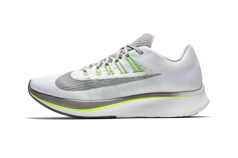 Nike Zoom Fly White Sport Grey Volt summer 2018 release running sneakers 593384436