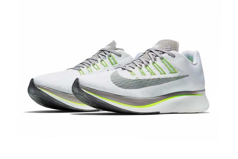 edf68c023bfa7d ... coupon codes ab5dd 6616f Nike Zoom Fly White Sport Grey Volt summer  2018 release running sneakers ...