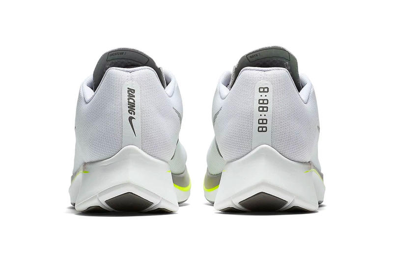 Nike Zoom Fly White Sport Grey Volt summer 2018 release running sneakers