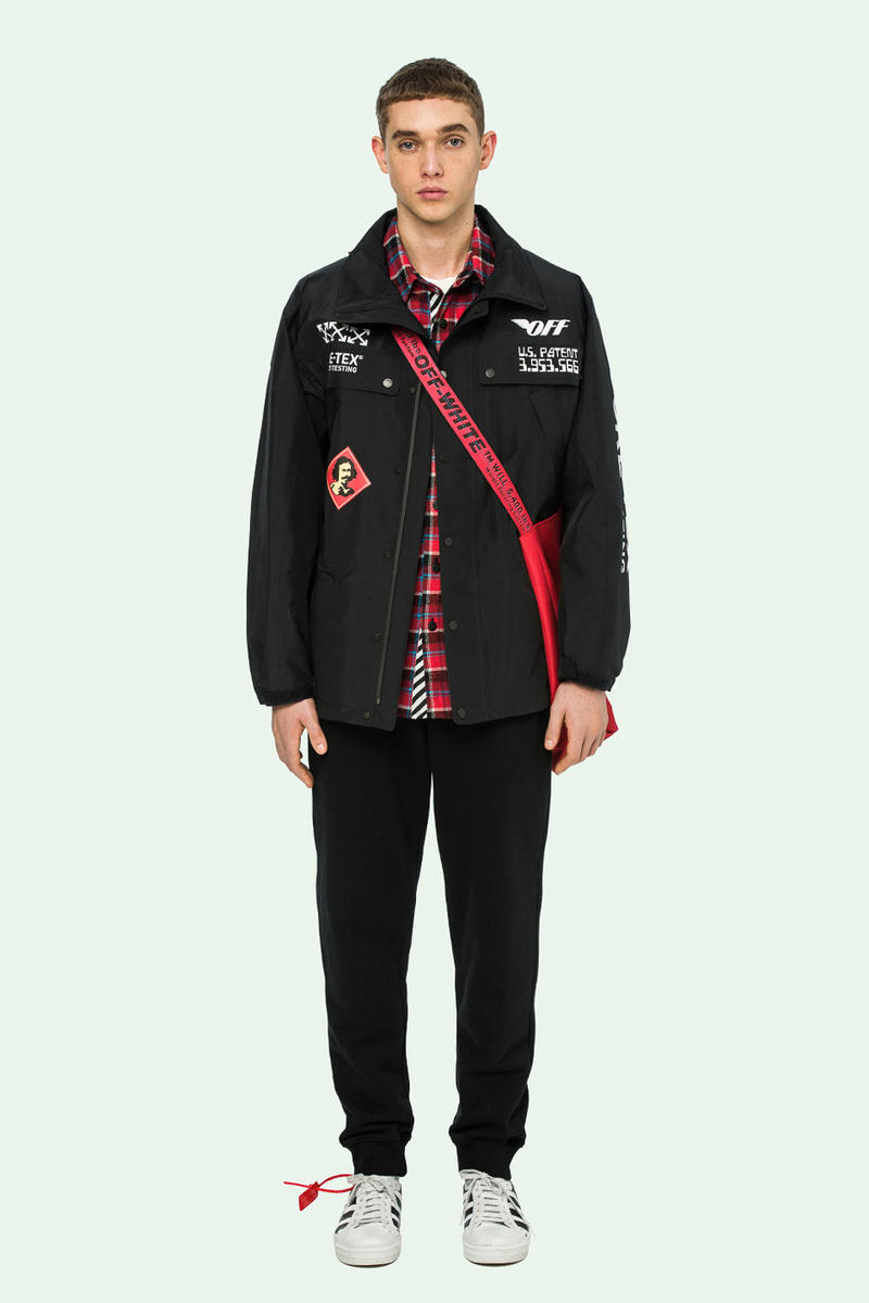 off white gore tex capsule collection pre order october 8 2018 july 5 launch release date info anorak black pants jacket hoodie graphics white