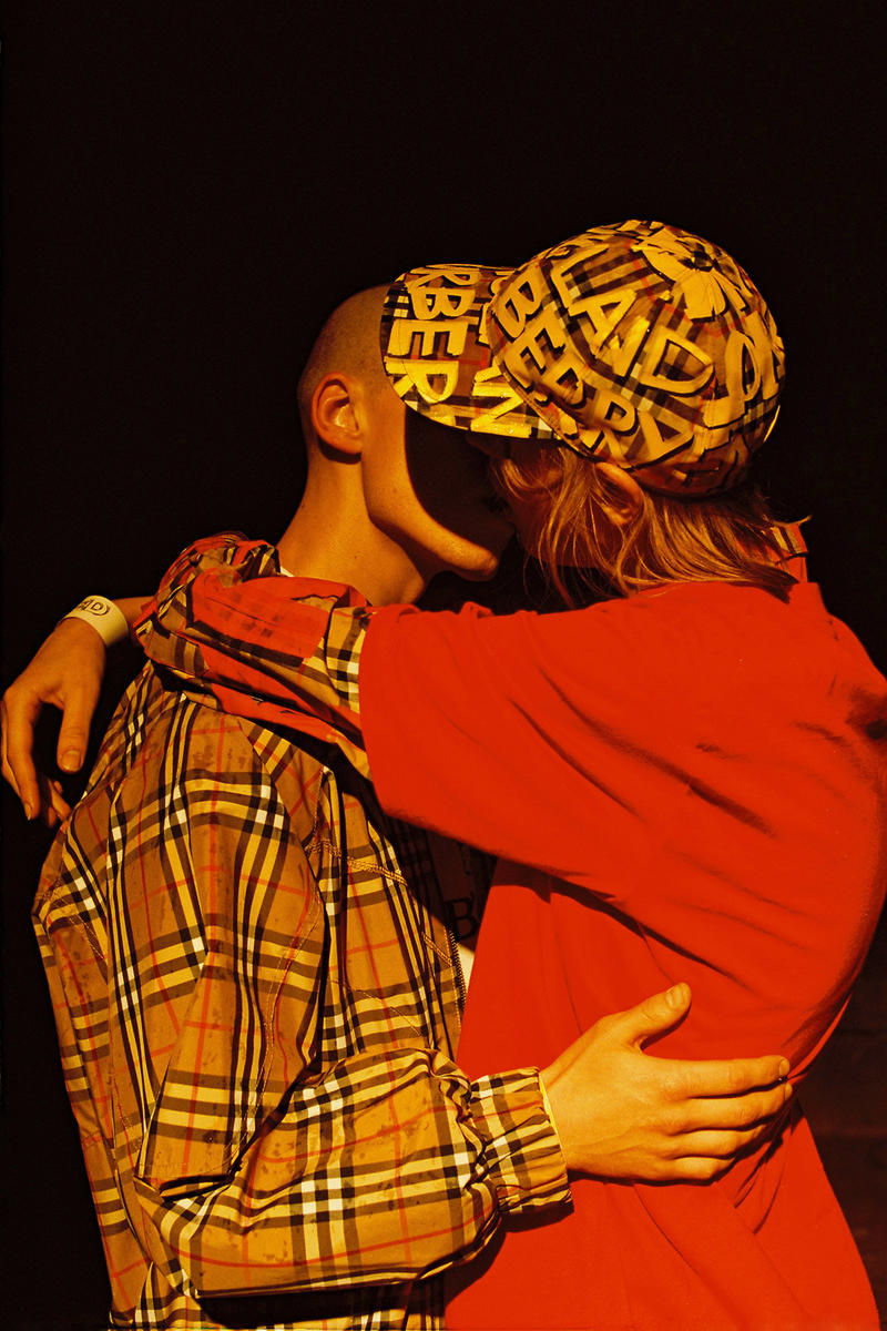 opening ceremony burberry capsule collaboration exclusive plaid check track suit red retro logo fall winter 2018 capsule july 13 drop release date buy purchase look book release