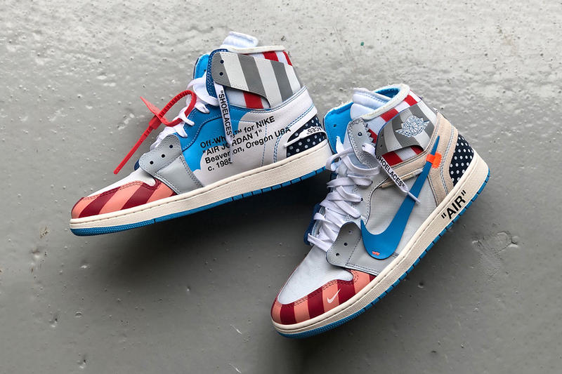 b82008b36f6a Parra x Off-White x Air Jordan 1 Custom Sneakers Kicks Shoes Trainers  Footwear Cop