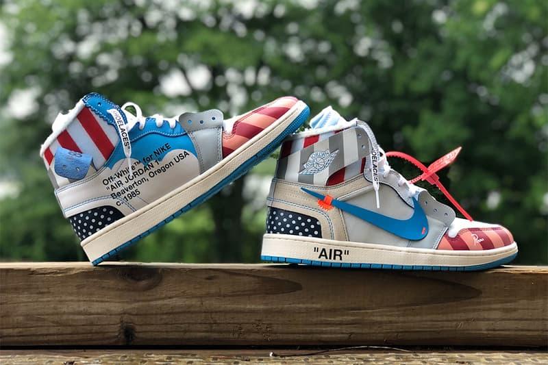 05028833fb2 Parra x Off-White x Air Jordan 1 Custom Sneakers Kicks Shoes Trainers  Footwear Cop