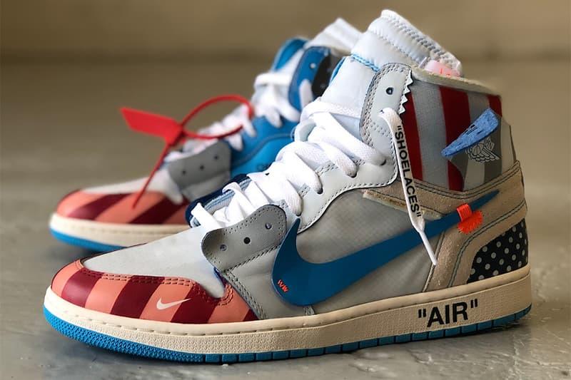 half off 88192 4997e Parra x Off-White x Air Jordan 1 Custom Sneakers Kicks Shoes Trainers  Footwear Cop