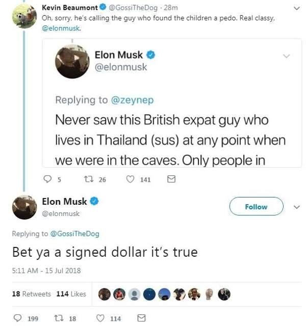 Elon Musk Flooded Thailand Cave Rescue Twitter Outburst Tweet Tesla Pedo Guy Tham Luang Caverns Vern Unsworth