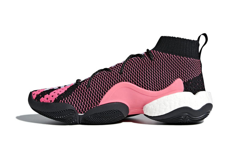 Pharrell Williams adidas originals Crazy BYW 'AMBITION' Release info Summer 2018 black pink white colorway adidas originals adidas Hoops footwear sneaker