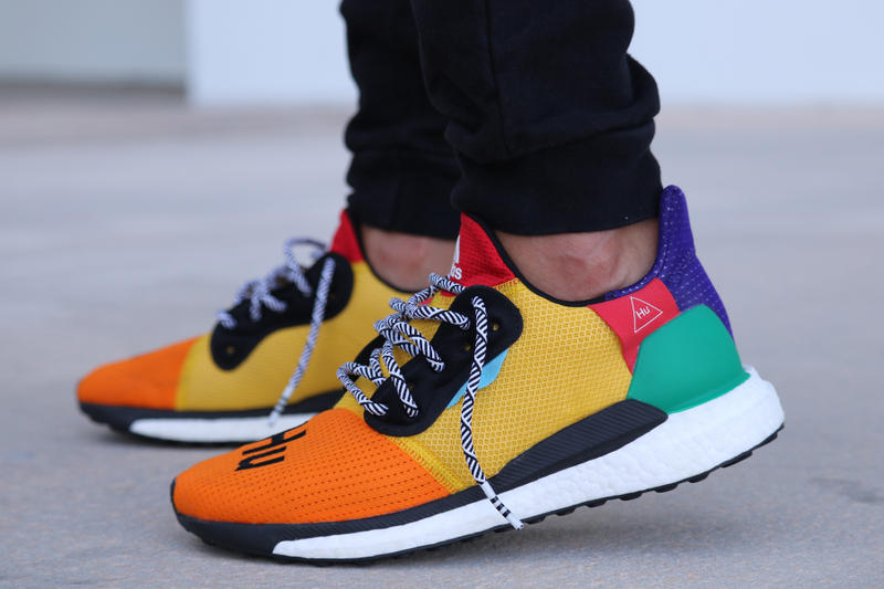 pretty nice 13367 5a29b An On-Foot Look at the Pharrell x adidas Solar Hu Glide St
