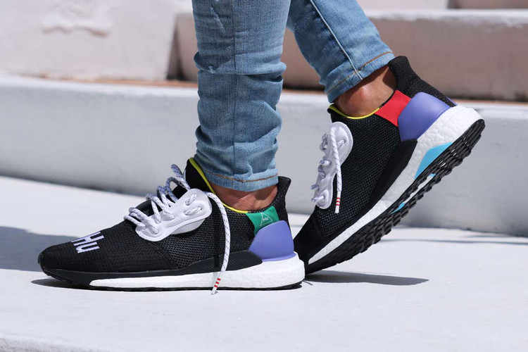 55d71f597 The Pharrell Williams x adidas Solar Hu Glide St Surfaces in an Alternate  Black Colorway