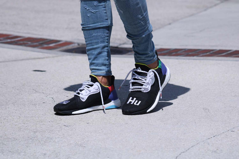 78b7664ce Pharrell Williams adidas originals HU Glide ST Black First Look Williams  Originals On Foot