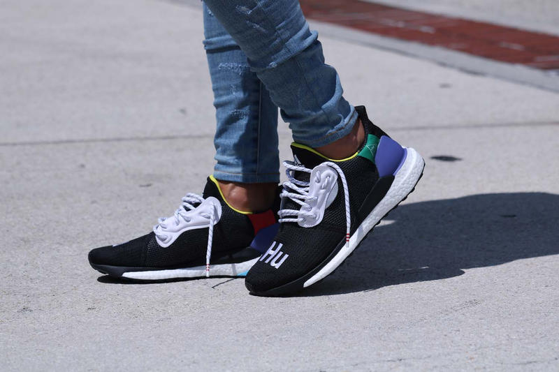 a7aa5810e Pharrell Williams adidas originals HU Glide ST Black First Look Williams  Originals On Foot
