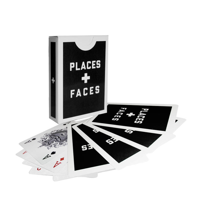 Places + Faces Spring Summer 2018 Windbreaker Side stripe pants PVC Side Tote bag 5 year anniversary Flags T-shirt hoodie Medicom Fabricks Collaboration Pillow Floor matt slippers utility belt Skate Deck Accessories Sharpie Disposable Camera Water Pistol USB 3.0 Deck of Cards Wallet Cardholder Lanyard