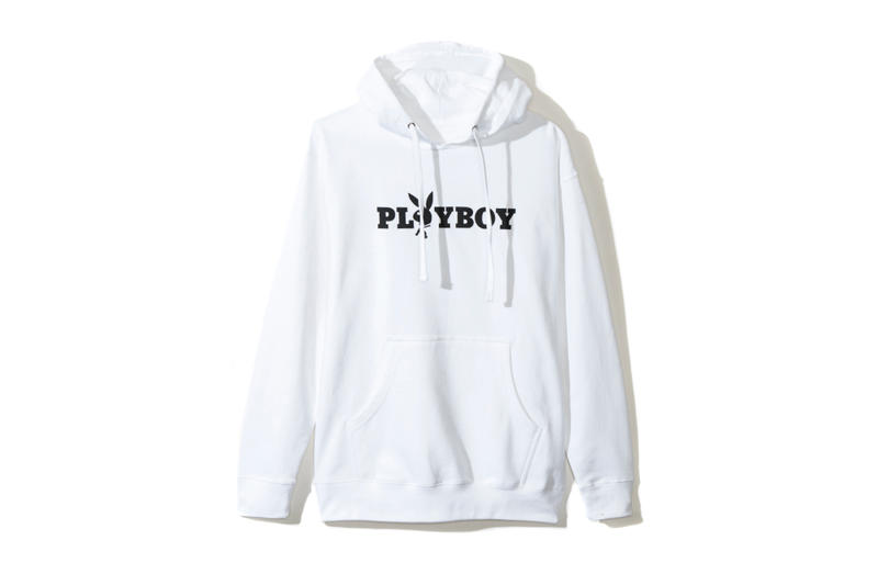 01e6fbbe98f85 playboy white label anti social social club collaboration collection july  13 2018 white hoodie logo rabbit