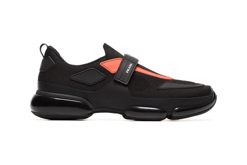 Prada Cloudbust Black Orange Release Info Fall Winter 2018 Sneaker Shoe Trainer Velcro