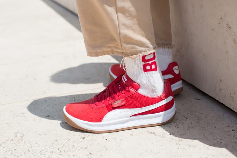 PUMA CALIFORNIA Lookbook sneaker classic modern west coast red black formstrip suede nylon mesh
