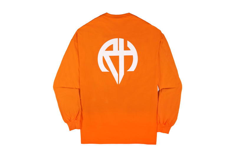 Richardson Spring Summer 2018 Logo Drop Black White Army Green Safety Orange Bomber Ma-1 Long Sleeve T Shirt Pocket Tee
