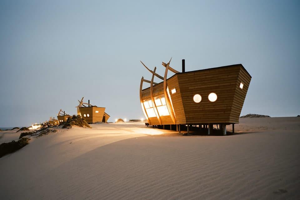 Shipwreck Lodge in Africa Skeleton Coast Travel Destination Architecture