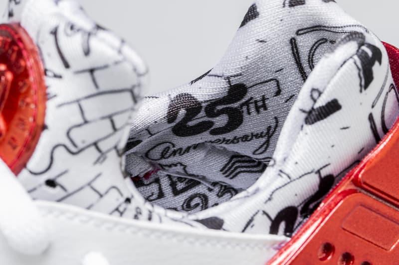 sale retailer a373e fe6e9 Shoe Palace Nike Air Huarache Release Date info price purchase 25th  Anniversary White University Red Platinum