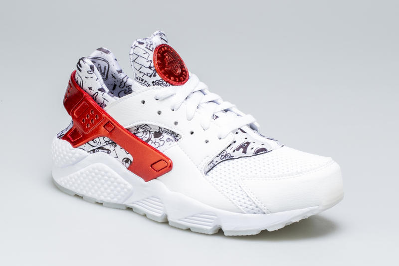 017128453210 Shoe Palace Nike Air Huarache Release Date info price purchase 25th  Anniversary White University Red Platinum