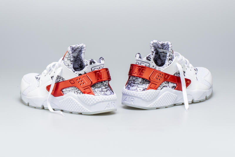 Shoe Palace Nike Air Huarache Release Date info price purchase 25th Anniversary White University Red Platinum colorway Joonbug July 28