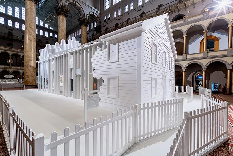 snarkitecture opens fun house national building museum daniel arsham alex mustonen exhibition architecture design art artworks