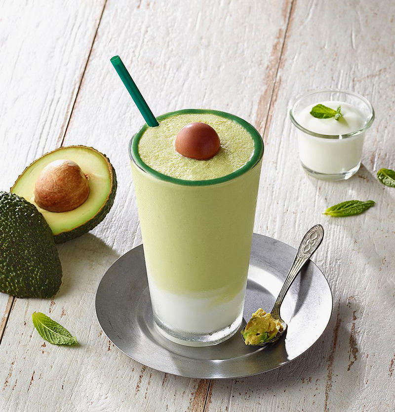 Starbucks Korea Avocado Frappuccino Blended drink 2018 july summer beverage limited