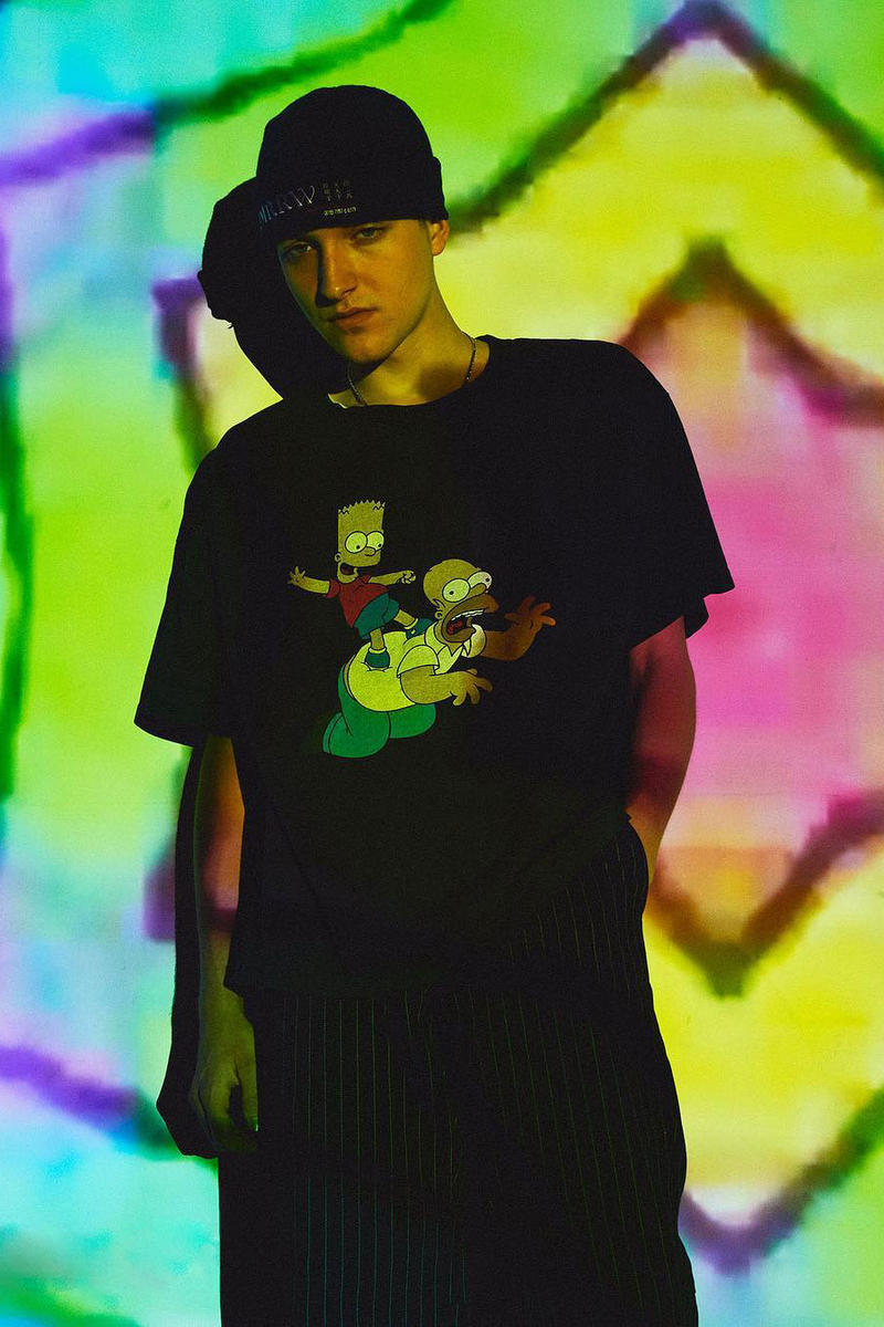 The Simpsons YSTRDY'S TMRRW collaboration tee shirt design fall winter 2018 exclusive japan beauty youth july 21 august 10 2018 drop release date buy info sale tee