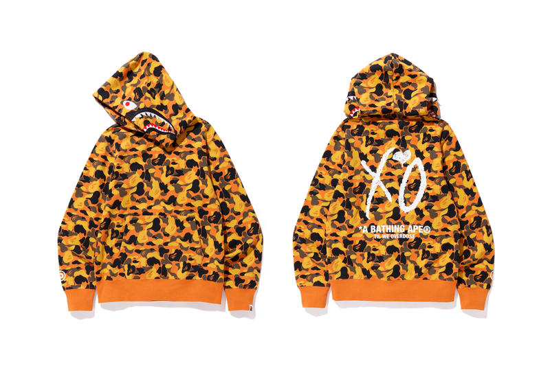 the weeknd a bathing ape bape x xo hoodie
