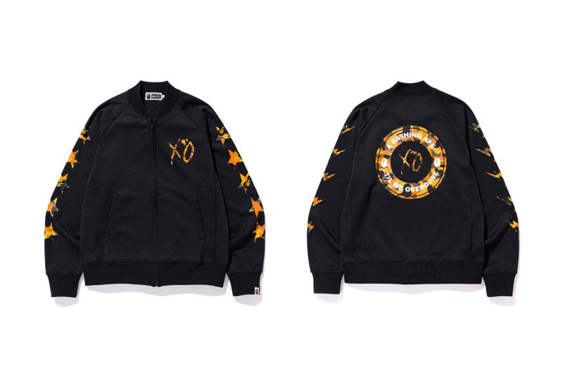 the weeknd a bathing ape bape x xo bomber jacket
