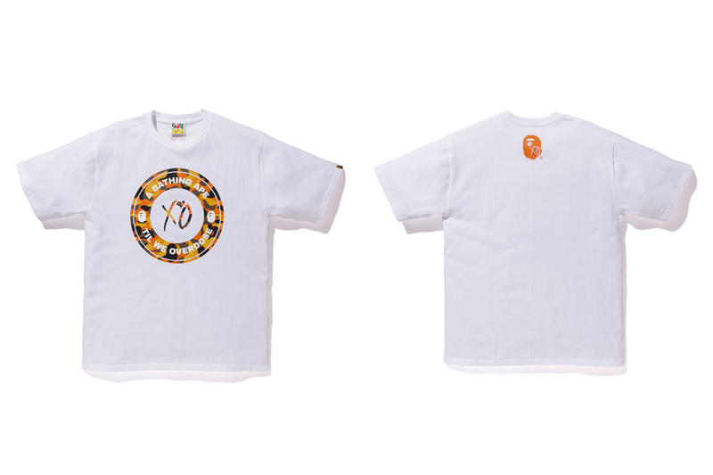 the weeknd a bathing ape bape x xo white t shirt