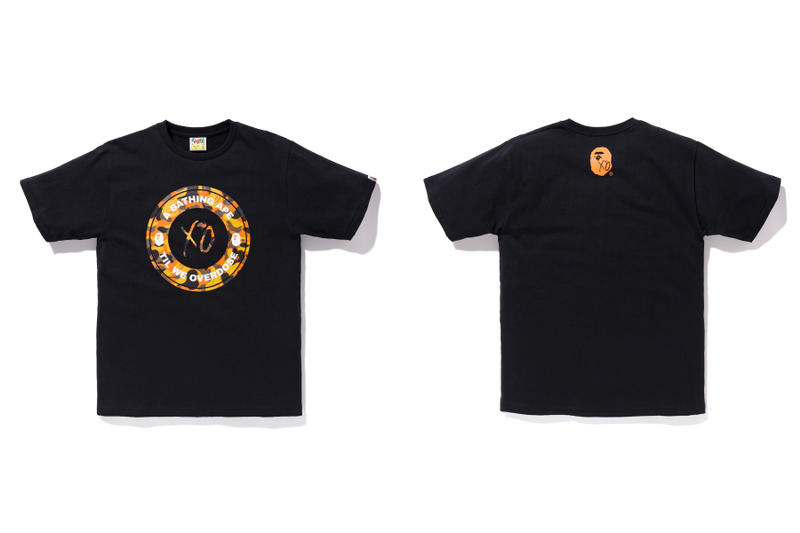 the weeknd a bathing ape bape x xo black t shirt