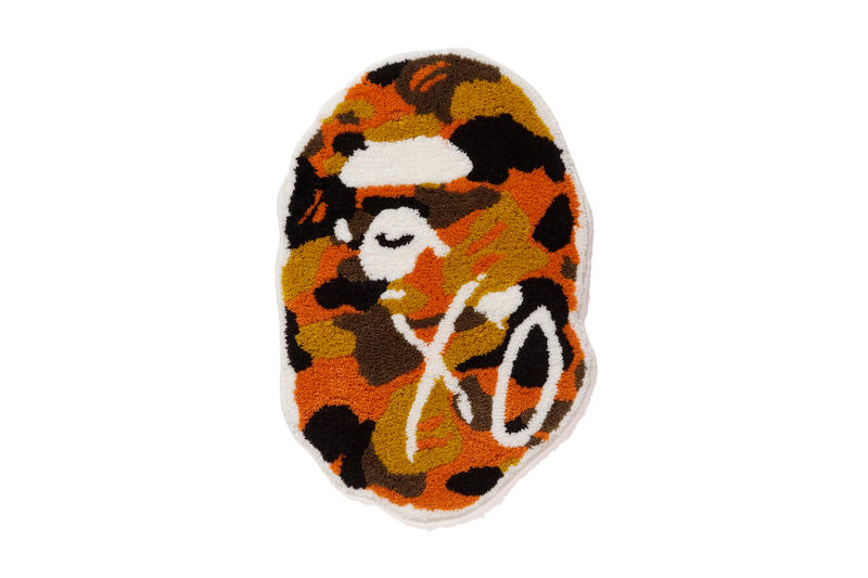 the weeknd a bathing ape bape x xo ape head rug