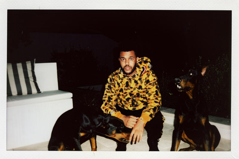 the weeknd bape collaboration collection lookbook august 4 2018 hoodie pants camouflage ape head