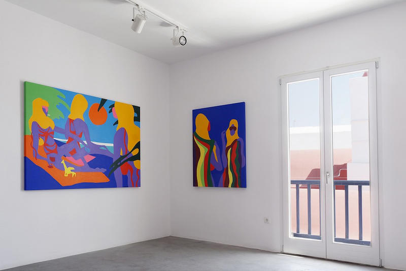 todd james the gods are smiling on us dio horia mykonos greece exhibition artworks paintings