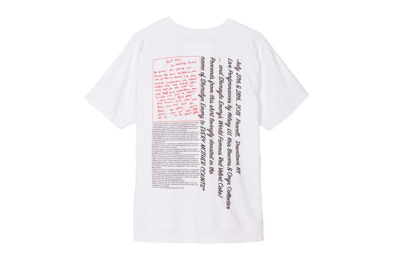 Tremaine Emory Mothers Charity Pop-Up Event Red Velvet Cake T Shirt Denim Tears New York No Vacancy inn