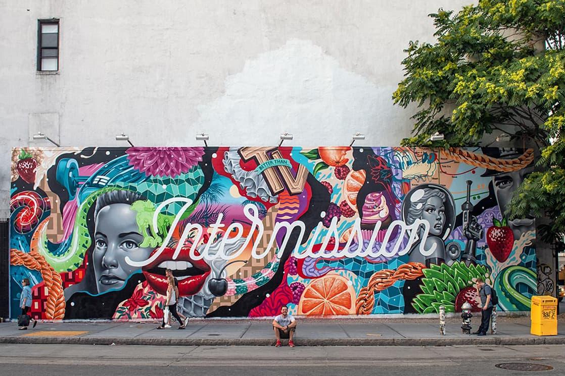 Tristan Eaton Takes over Houston Bowery Wall Nyc HYPEBEAST
