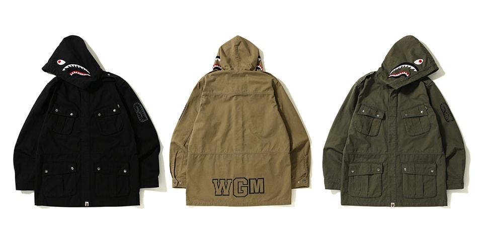 511229b1c27b BAPE Military-Inspired Shark Parachute Jackets