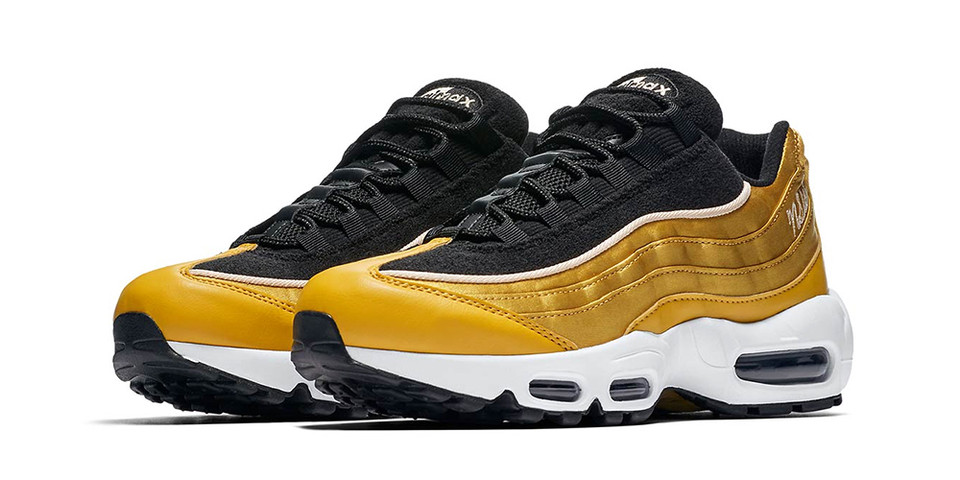 premium selection a72a4 f43b1 Nike Air Max 95 Satin Gold & NSW Embroidery   HYPEBEAST