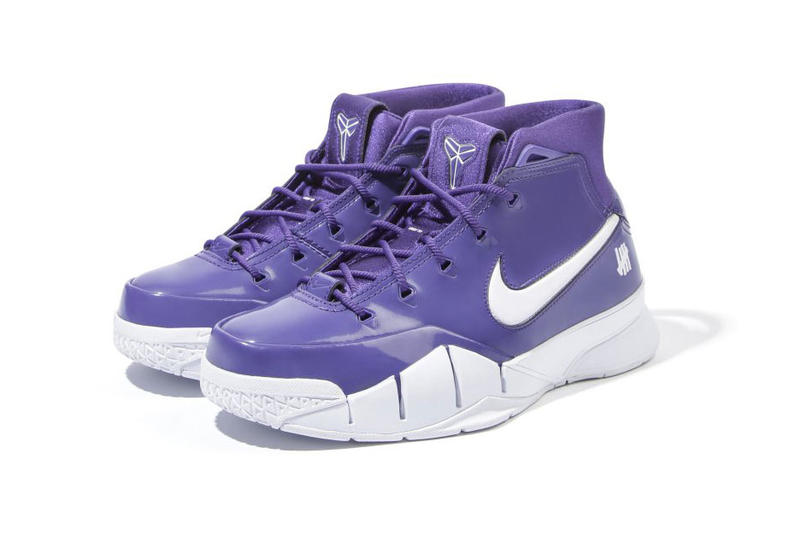the best attitude cca37 590a9 undefeated nike zoom kobe 1 protro purple hong kong store release patent  leather white exclusive unreleased