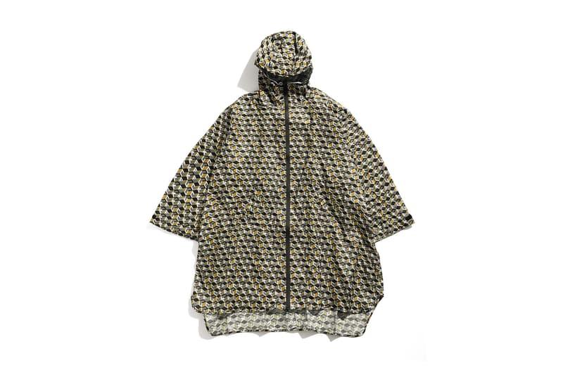 undercover kiu collaboration july 21 2018 printed green fuck goyard raincoat zipper pocket