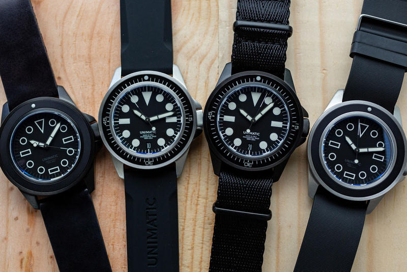 Unimatic U1-E U1-EN U1-EM U1-EMN Divers Watches Time Pieces limited edition 300 pieces black modello uno 600