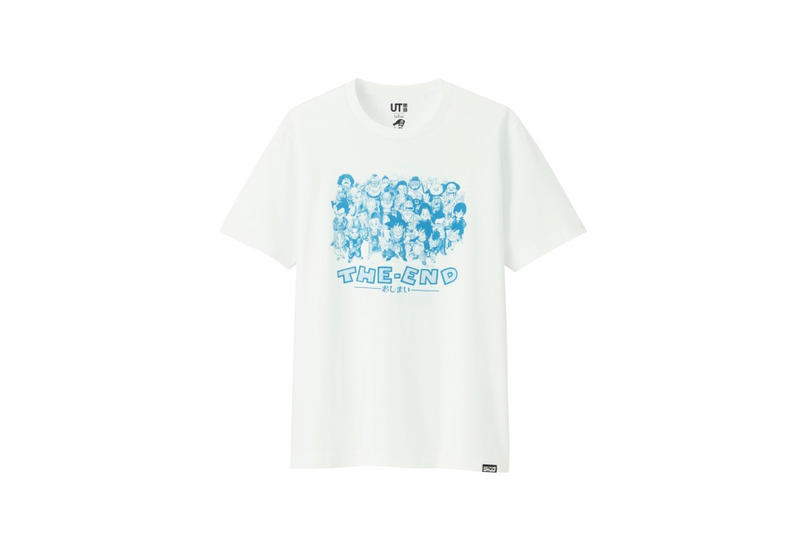 shonen jump uniqlo ut graphic tee shirt collaboration final white dragon ball the end blue print